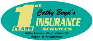 1st Class Insurance Services d.b.a. Cathy Boyd's Insurance Logo